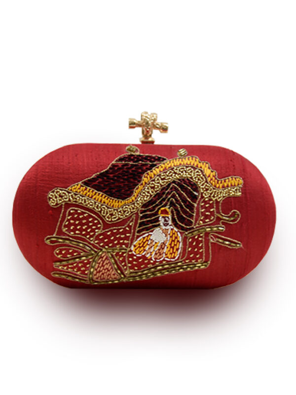 Red Oval Clutch