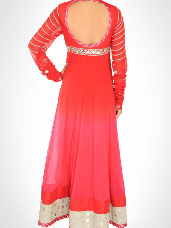 Coral Ombre' Anarkali