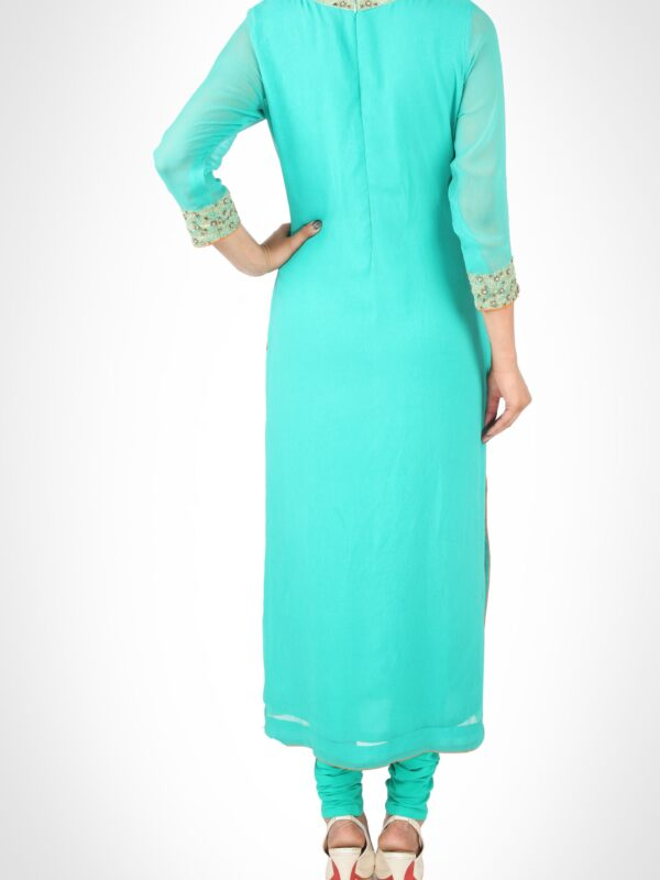 Aqua Blue Churidar Kurta