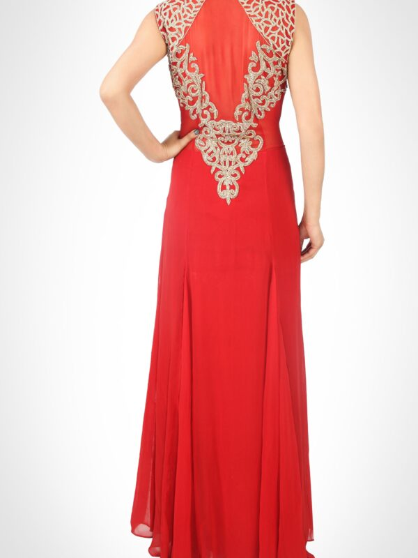 Marsala Embroidered Gown