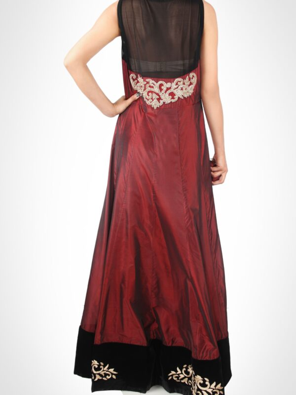 Marsala Floor Length Jacket