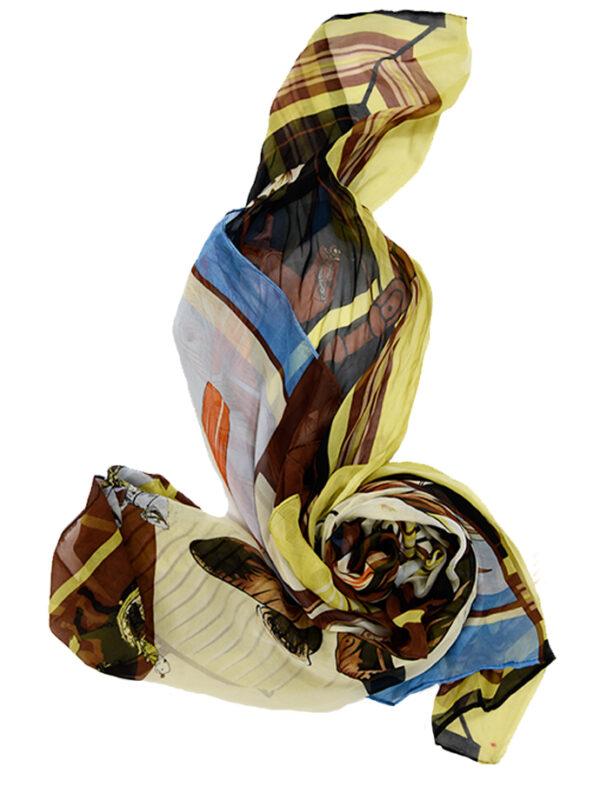Silk Flat Chiffon Scarf
