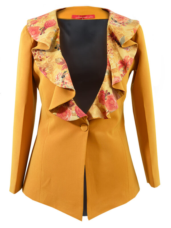 Printed Collar Coat