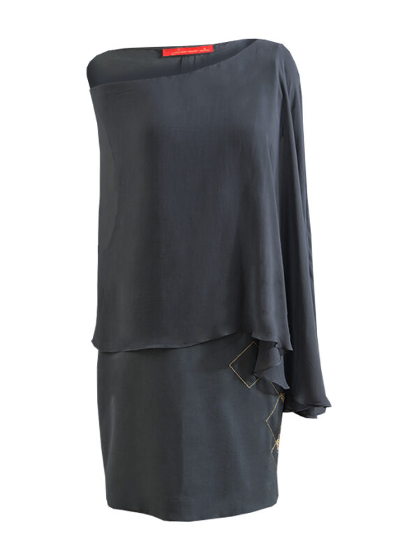 Grey Off – Shoulder Tunic