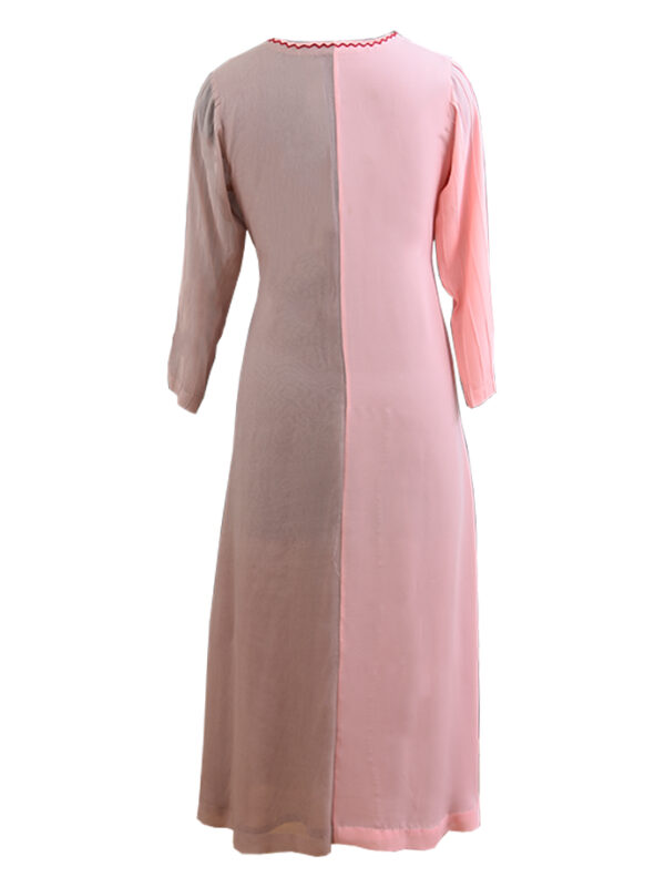 Liver And Pink Georgette Kurta