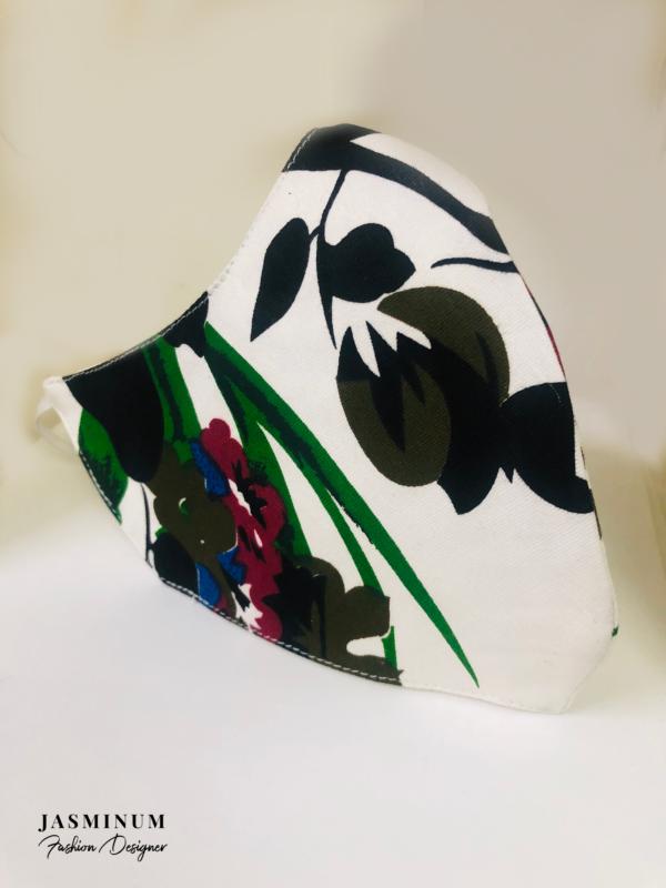 Tropical Print Cotton Face Mask