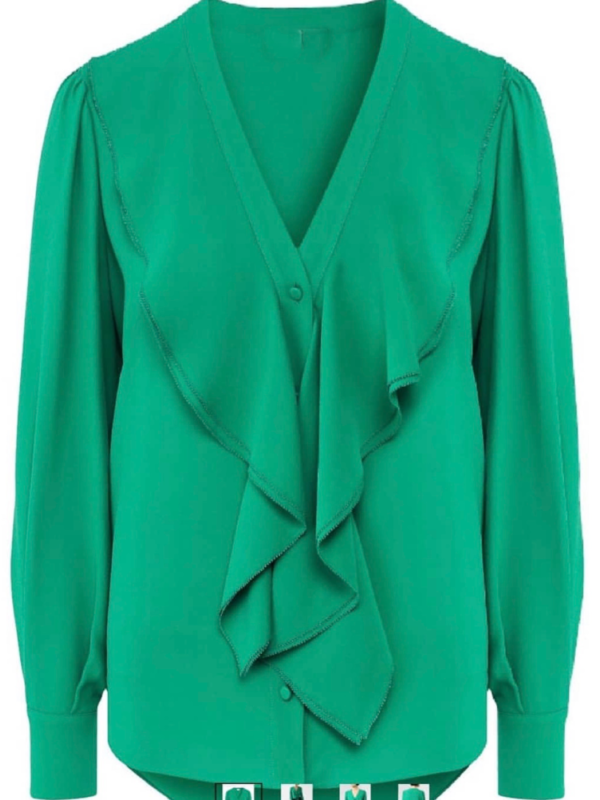 Emerald Green Georgette Shirt