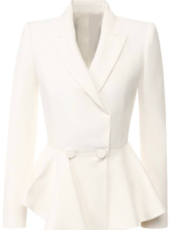 White Peplum Jacket
