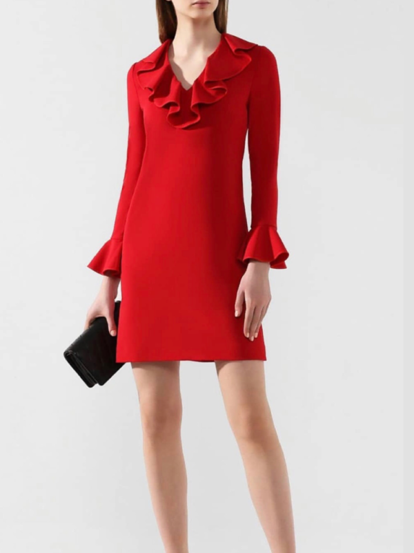 Red Ruffled Tunic