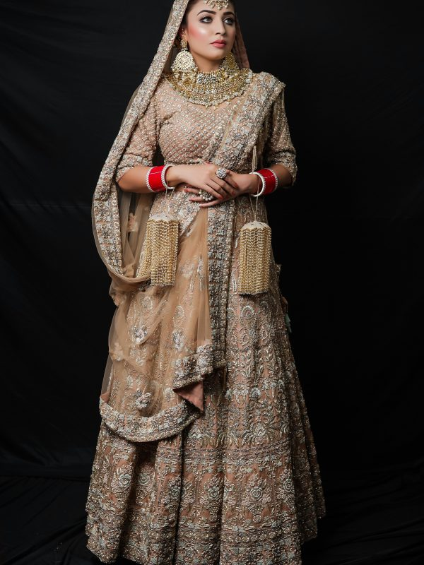 Golden Lehnga Choli With Zardozi Embroidery