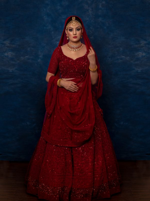 Maroon Tone On Tone Embroidery Lehnga Choli