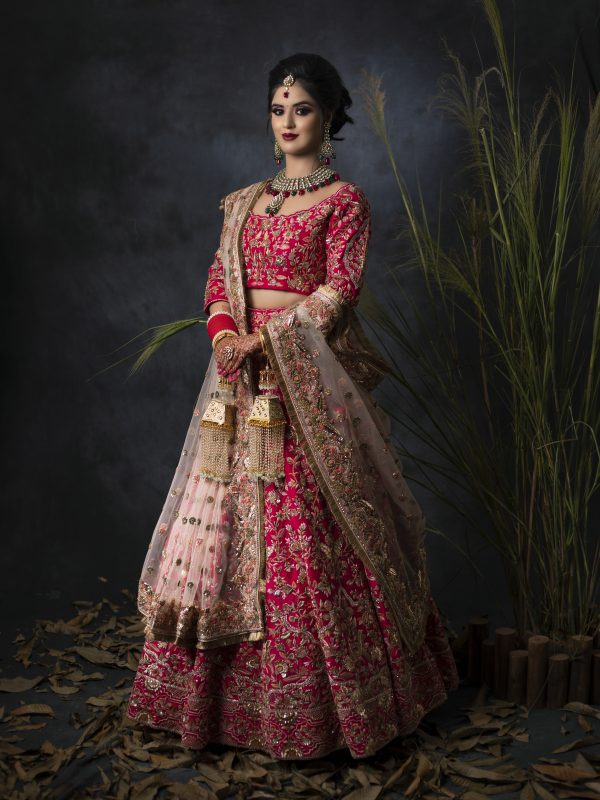 Fuschia Pink Lehnga Choli With Resham Embroidery