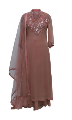 Gaajri Georgette Kalidar Suit