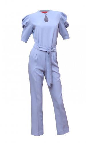 Blue Puff Sleeve Co-ord Set
