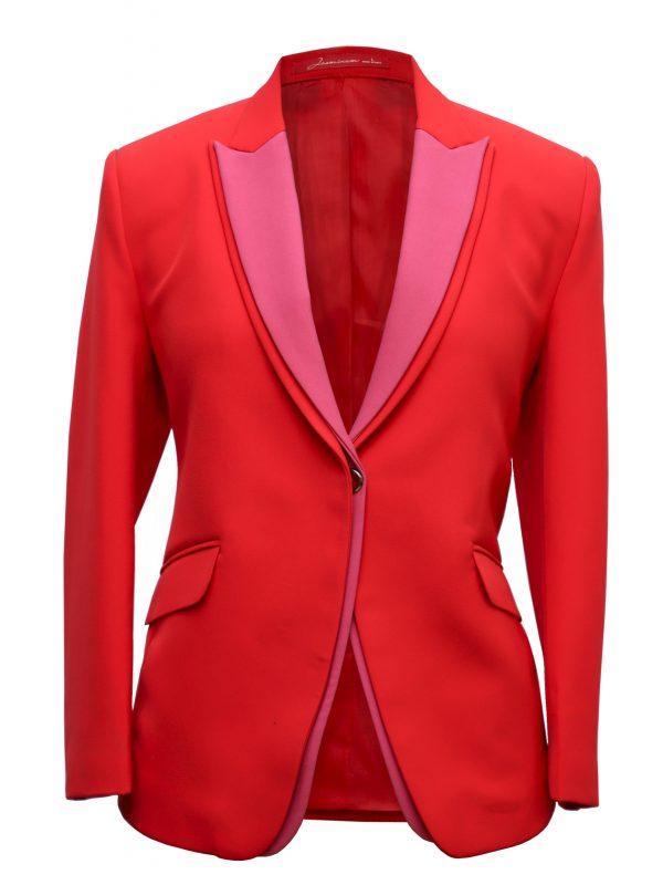Red Double Collar Blazer